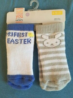 Carters My First Easter Bunny Chick Socks 6/12m