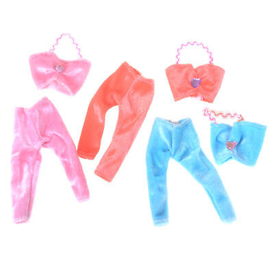 3Set/lot Doll Clothes Fashion Casual Wear Handmade Blouse Suit For BarbieESCA