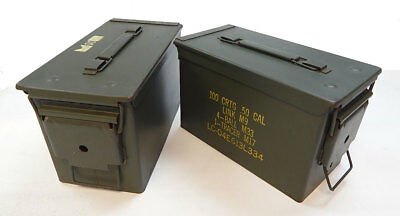 2 PACK .50 CALIBER 5.56mm AMMO CAN M2A1 50CAL METAL AMMO CAN BOX Grade 1