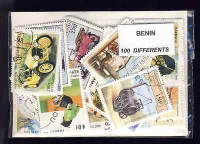 Benin 100 stamps different obliterated