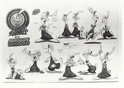 Three different Vintage Disney Studios animation art- Roger Rabbit Model sheets