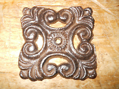 15 Cast Iron Antique Style BACK PLATE Drawer Pull Barn Handle Door Knobs PLATES