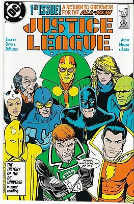 1987 Justice League Issue #1 Comic Book Bag/board Vg-Mint Rare Vintage