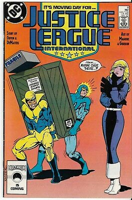 1987 Justice League Issue #8 Comic Book Bag/board Vg-Mint Rare Vintage