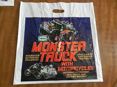 2007 Hess Monster Truck with Motorcycles Bag