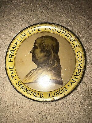 Vintage The Franklin Insurance Company Tip Tray