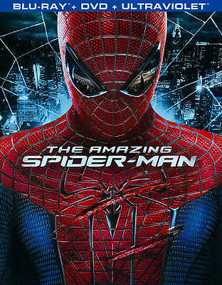 The Amazing Spider-Man (Blu-ray/DVD, 2012, 3-Disc Set) LIKE NEW with Slipcover