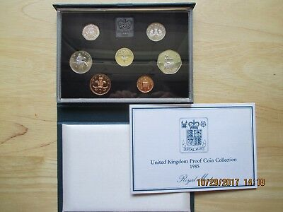 1985 United Kingdom Proof Coin Collection in original box