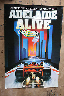 Adelaide F1 Australian Grand Prix posters. FROM 1985-1993 ORIGINAL POSTERS