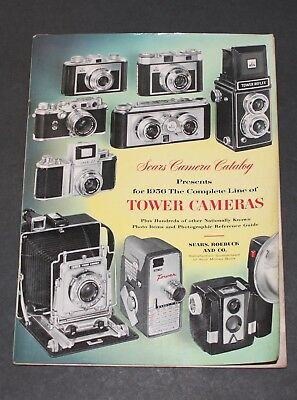 original 1956 Sears Camera Catalog Leica-Zeiss-Minox-Rollei-etc. 75 pg FREE SHIP