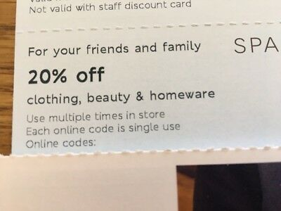 M&S Marks & Spencer 20% Off Clothing Beauty Homewear Voucher Code 24th-28th May