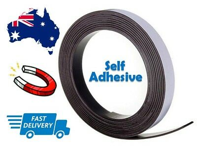 1 METRE 25mm Wide Flexible Self Adhesive Magnetic Rubber Tape Magnet Strip Glue