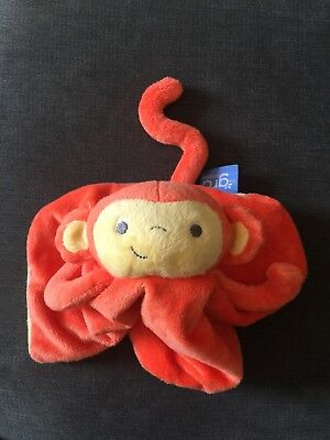 The Gro Company Orange Mikey Monkey Chimp Baby Comforter Blanket Plush Blankie
