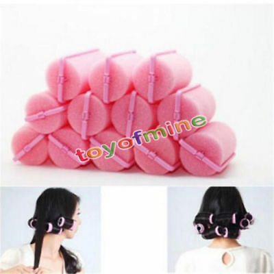12X Magic Sponge Foam Cushion Hair Styling Rollers Curlers Twist Tools Witty NEU