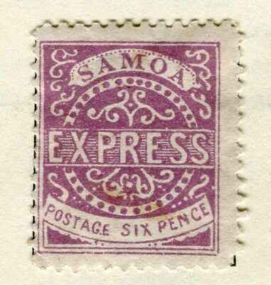 SAMOA; 1877-80 early classic type 4 ? issue Mint hinged 6d. value