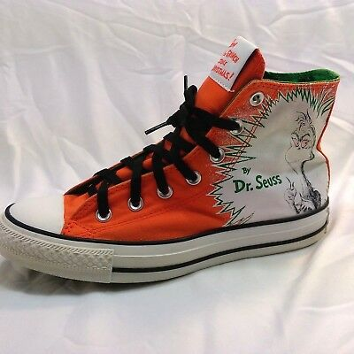 Converse All Star DR SUESS How the Grinch Stole Christmas Sneakers Men 6 Women 8