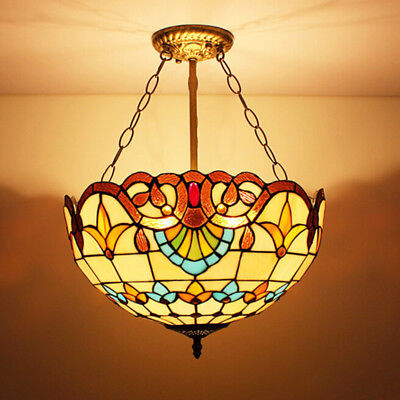 Tiffany Style Hanging Ceiling Light Stained Gl Pendant Mission Chandelier
