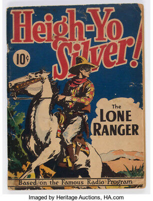 Large Feature Comic vol 1 #3 Heigh-Yo SILVER 1939 G+ The Lone Ranger  Scarce!!