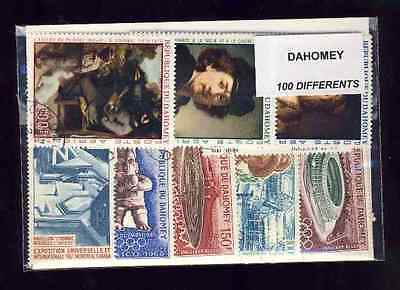Dahomey 100 stamps different