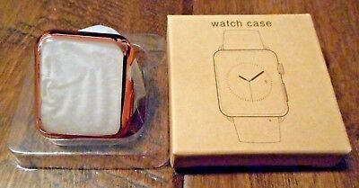 NEW for Apple iwatch case 38mm Rose Gold Color Silicone Bumper