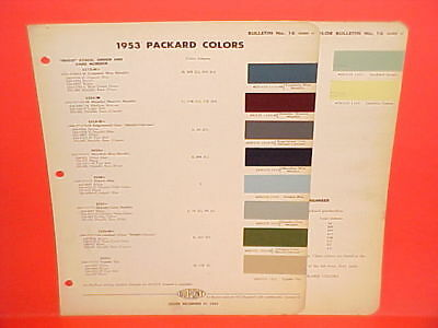 1953 Packard Patrician Clipper Cavalier Caribbean Convertible Coupe Paint Chips