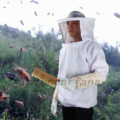 New Safe Bee-Proof BeeKeeping Suit Jacket With Veil & Gloves & Hive Brush & Tool