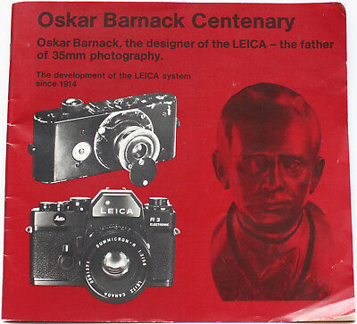 Oskar Barnack Designer Inventor of the Leica Leitz Guide Booklet 1980s