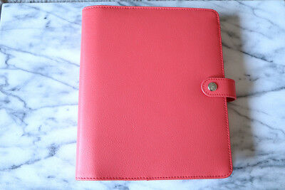 Kikki.K Bright Pink Leather Personal Planner Large