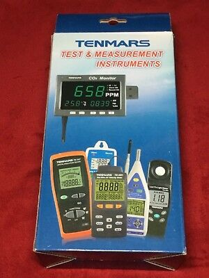 TENMARS TM-192D 3-Axis EMF Electromagnetic Field Gauss Meter W/USB Data Logger