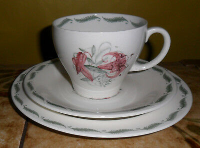 Susie Cooper |Tiger Lily | Trio Cup Saucer Side Plate | 3 Sets Available *