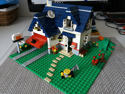 Lego Creator 5891 House With Garage Apple Tree Complete
