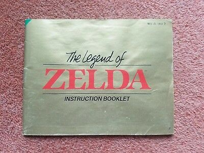 MANUAL ONLY for NES The Legend of Zelda Instruction Booklet Nintendo