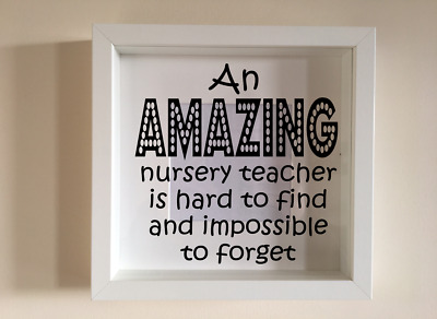 Ikea Ribba Box Frame Personalised Vinyl Wall Art Quote Teacher Superpower
