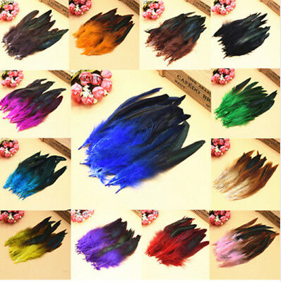 wholesale 50-1000pcs 10-15cm /4-6inches Beautiful Rooster Tail Feathers