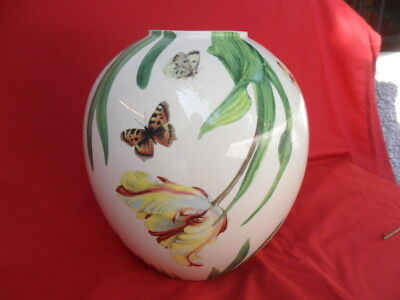 Spode Vase Floral Haven Tulip Butterflies And Bees 700
