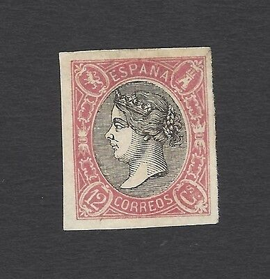 Spain 1865 12c unused – no gum - Scott #69