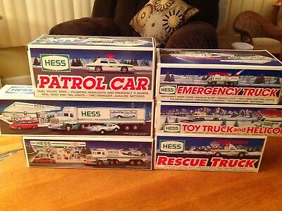 1991 - 1996 HESS TRUCKS NEW CONDITION IN BOX - 6 Total