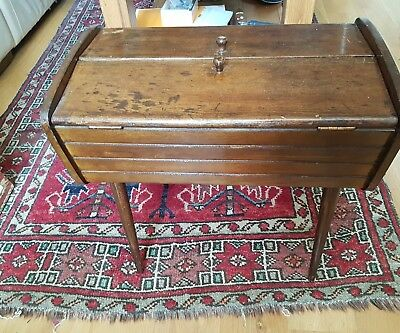 Victorian Oak sewing work box