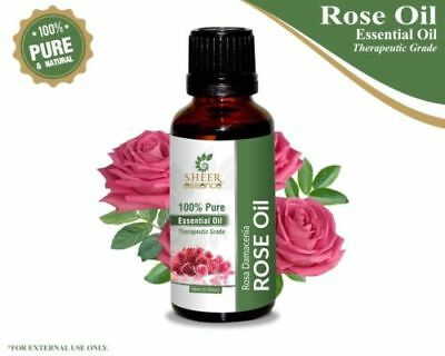 Rose Fragrance Essential Oil For Diffuser Aromatherapy 5ml And 5ml Extra Free