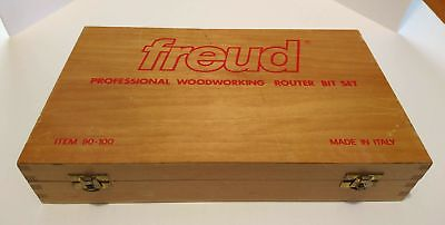 Freud 90-100 Professional Woodworking Router Bit Set ITALY NR