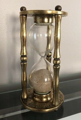 Vintage Brass Timer Zodiac Egg Timer Hour Glass