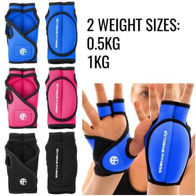 Extreme Fitness Weighted Gloves Wrist Hand Training Gym Boxing Weights MMA