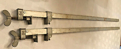 """(2) Universal / Dubuque Bar Clamps Adjustable 48"""" Woodworking Clamp Made in USA"""