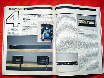 "Vendetta Research SCP-2B pre-preamplifier test review ""Audio"" magazine 12/90"