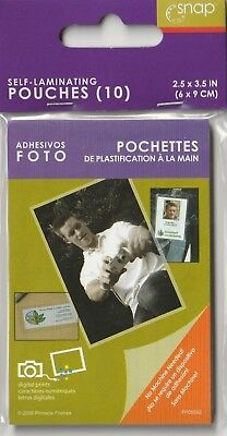 Snap Self-Laminating Pouches (10 pack) 2.5 x 3.5 in.