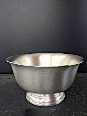 Pewter Paul Revere Bowl Reproduction by Web, 8 inch, Brand New,