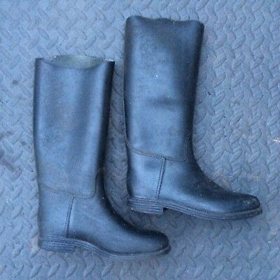 Riding Wellie - Black Boots - Size UK 1