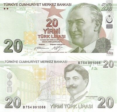 Turkey 20 Lira (2009) - Ataturk/Architect/p224a UNC