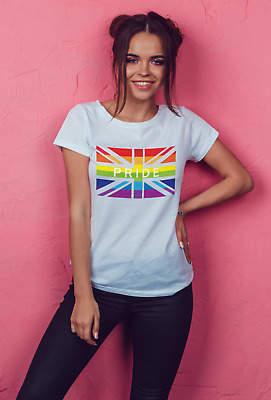 Gay Pride Shirt Rainbow Tshirt Lesbian LGBT Male /Female