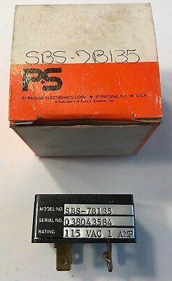 Syracuse-Electronics-SBS7B135 Solid-State-Relay-115VAC-1 Amp  * NEW IN BOX *